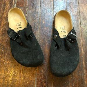 Betula Birkenstock Black Clogs Size 5